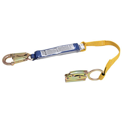 Werner - L210101 3 ft Manual Rope Adjuster with Shock Absorbing Lanyard for 5/8 in Rope WER-L210101