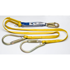 Werner - C411400 6 ft DeCoil Twinleg Lanyard (DCELL Shock Pack, 1 in Web, Snaphook, 2 in Carabiner) C411400