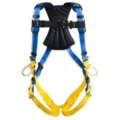 Werner Blue Armor 2000 H132001 Positioning Fall Protection Harness with 3 D-Rings - Small H132001