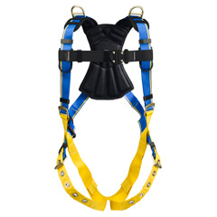 Werner Blue Armor 2000 H142001 Retrieval Fall Protection Harness with 3 D-Rings - Small H142001