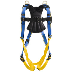 Werner Blue Armor 2000 H143005 Retrieval Fall Protection Harness with 3 D-Rings - XX-Large H143005