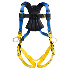 Werner Blue Armor 2000 H162001 Climbing/Positioning Fall Protection Harness with 4 D-Rings - Small H162001