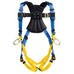 Werner Blue Armor 2000 H163001 Climbing/Positioning Fall Protection Harness with 4 D-Rings - Small H163001