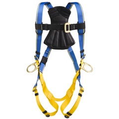 Werner Blue Armor 1000 H231002 Positioning Fall Protection Harness with 3 D-Rings - Medium/Large H231002