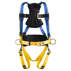 Werner Blue Armor 1000 H231101 Construction Fall Protection Harness with 3 D-Rings - Small H231101