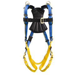 Werner Blue Armor 1000 H242001 Retrieval Fall Protection Harness with 3 D-Rings - Small H242001