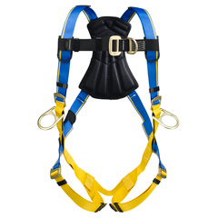 Werner Blue Armor 1000 H261001 Climbing/Positioning Fall Protection Harness with 4 D-Rings - Small H261001