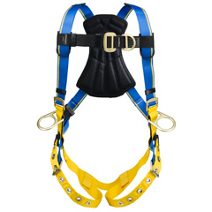 Werner Blue Armor 1000 H262001 Climbing/Positioning Fall Protection Harness with 4 D-Rings - Small H262001
