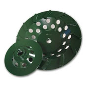 Diamond Products - 4in x 5/8-11 Utility Green Spiral Turbo Cup Grinders w/9 Segments 94133