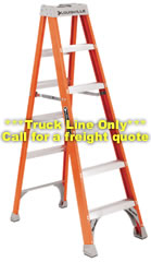 Louisville Ladder - FS1512 - 12ft Fiberglass Step Ladder - 300lb Rated Type 1A FS1512