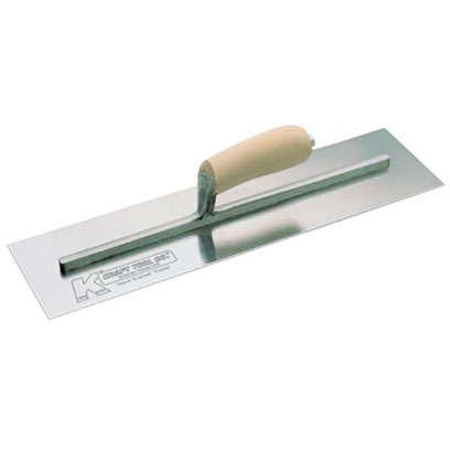 Concrete Finishing Trowels - Carbon Steel - Straight Wood Handle