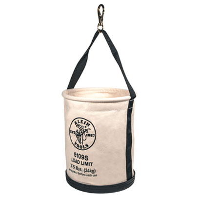 Klein - Bucket, #6 Canvas, Wide, Straight-Wall, Swivel Snap 5109S