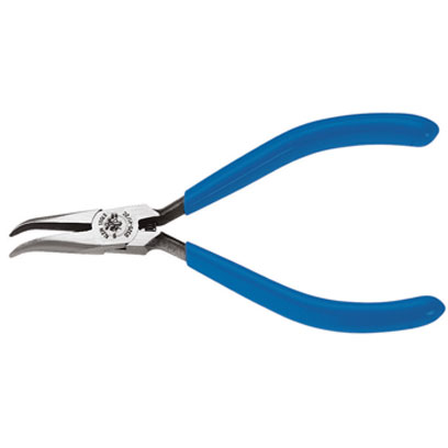 D32041/2C Klein - Long-Nose Pliers, Midget, Curved Needle-Nose, 4-5/8in D320-41/2C