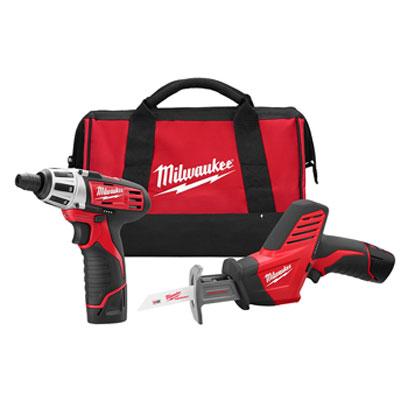 Milwaukee Electric Tool - 2490-22 M12 2 Tool Combo Kit (Screwdriver,Hackzall Reciprocating Saw 2490-22