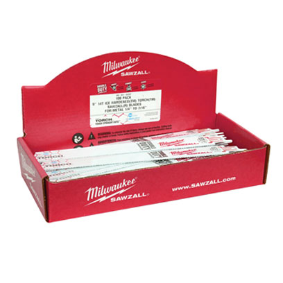 Milwaukee Electric Tools 48-01-9713 Ice Edge Sawzall Blade 10 TPI - 9in Long (50 Pack) 48-01-9713