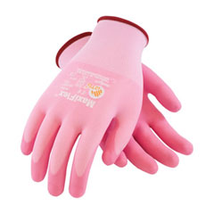 PIP 34-8264/M Glove; G-Tek Maxiflex Active, Light Weight Pink Foam Nitrile Dip, Pink Seamless Knit Nylon Liner 34-8264/M