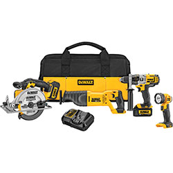20V MAX Li-Ion 4-Tool Combo Kit (HD, Rec, Circ, Light, 3.0 Ah) DCK491L2
